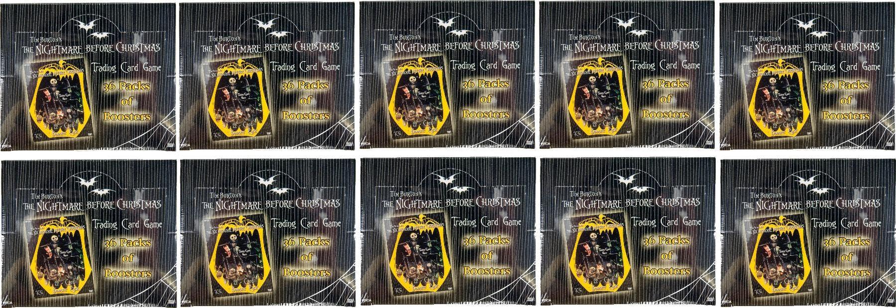 Nightmare Before Christmas TCG Booster Box Lot of 10   DA Card World