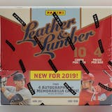 2019 Panini Leather & Lumber Baseball Hobby Box
