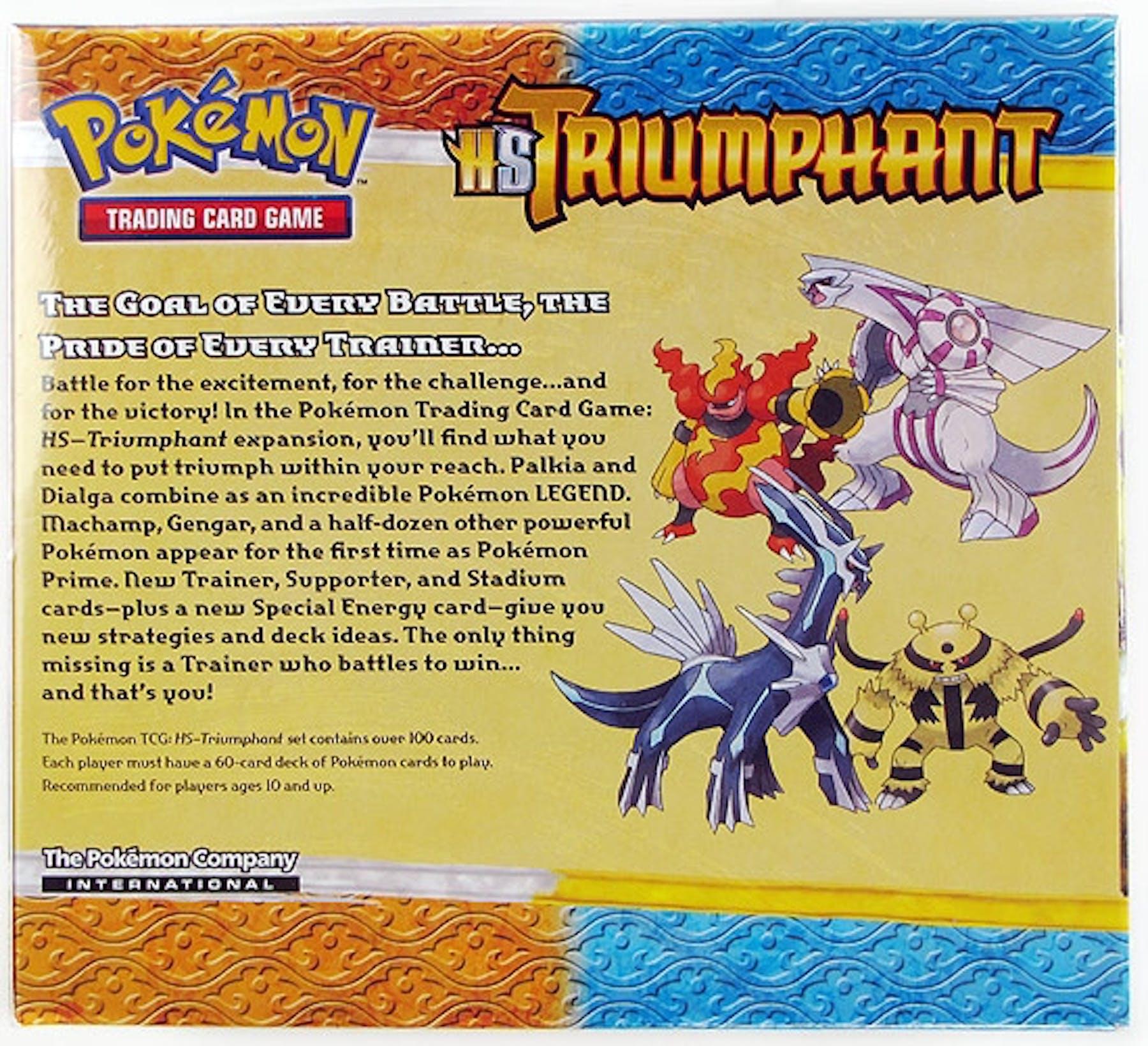 Pokemon Heartgold Amp Soulsilver Triumphant Booster Box Da