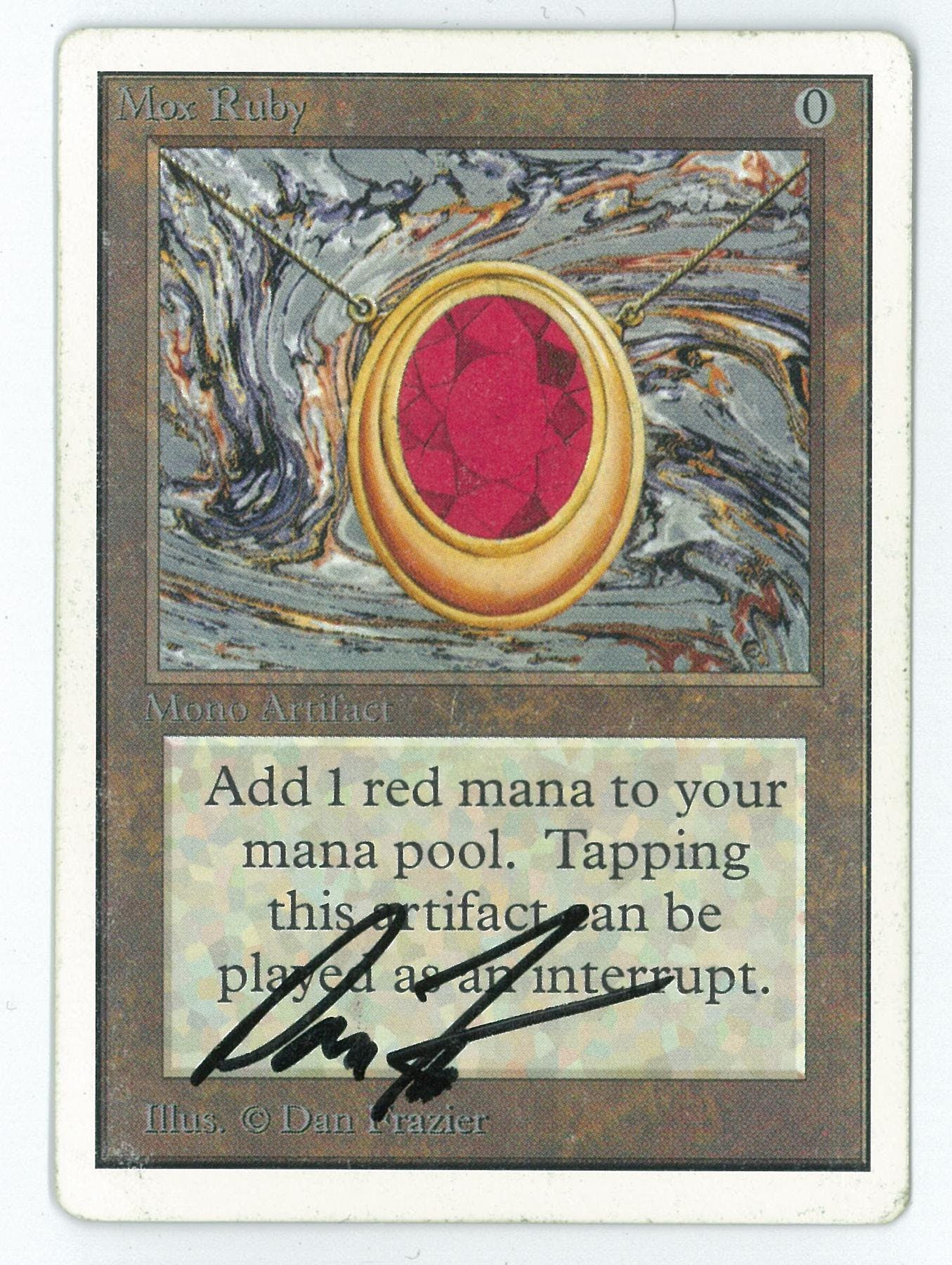 Magic The Gathering Unlimited Single Mox Ruby Artist