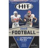 2009 Sage Hit High Series Football Hobby Box