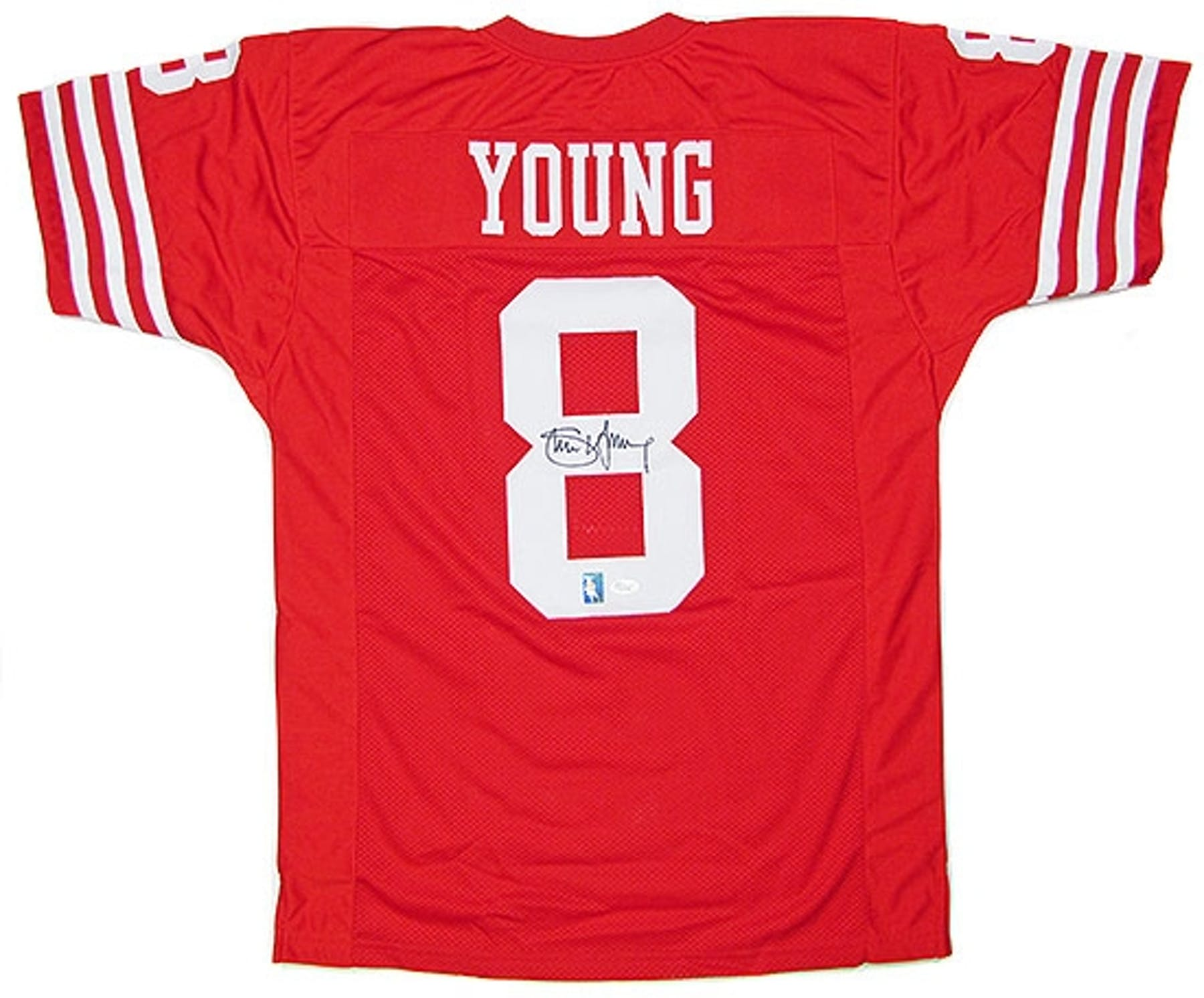 Steve Young Autographed San Francisco 49ers Red Throwback ... 957c95b1b