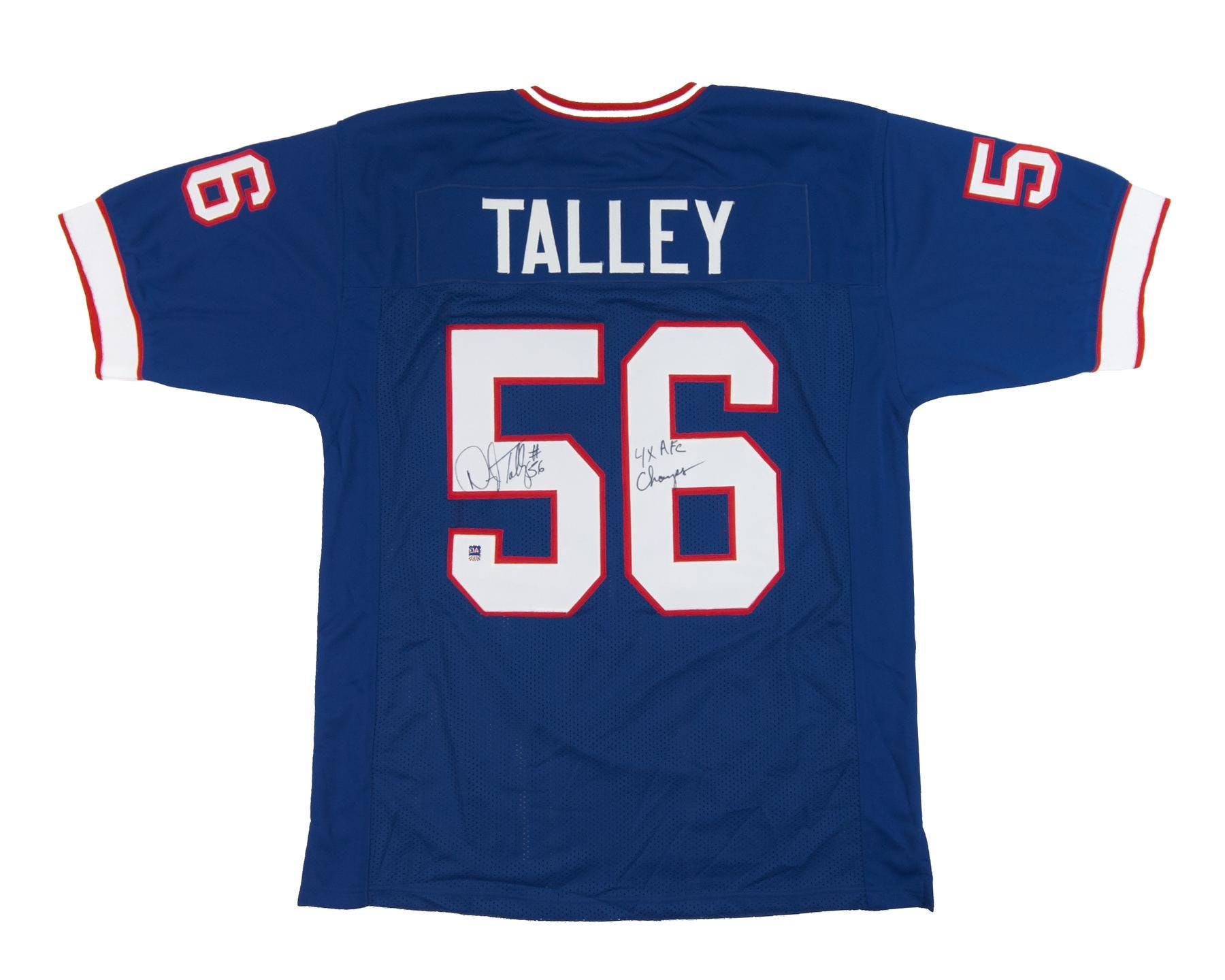 Darryl Talley Autographed Buffalo Bills Blue Football Jersey 4x AFC ... 67a3bd2ac