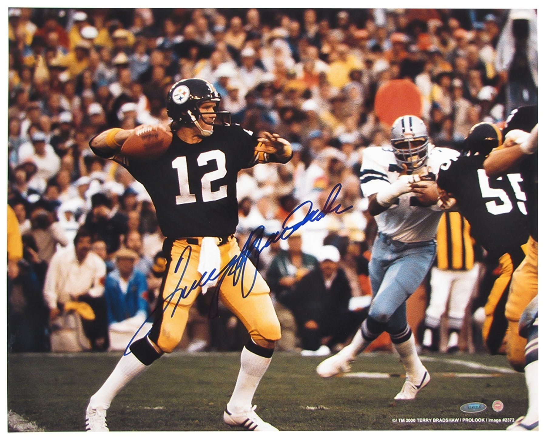 5f28aa643 Terry Bradshaw Autographed Pittsburgh Steelers 16x20 Photograph ...