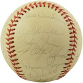 1975 New York Yankees Team Signed OAL Baseball (Thurman Munson / Elston Howard) Full JSA/PSA Letters!!!