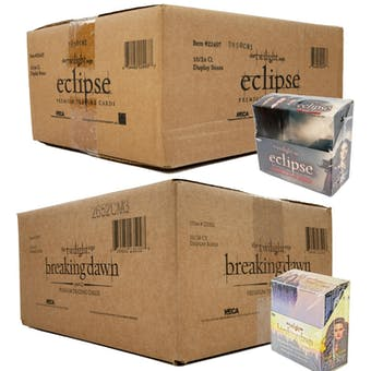 Twilight NECA Trading Cards GIANT LOT OF 10-BOX CASES - 80 Cases Eclipse S2 & 80 Cases Breaking Dawn P2