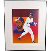 Harold Baines Chicago White Sox Upper Deck 29 x 35 Framed Original Art