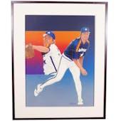 Mike Scott Houston Astros Upper Deck 24 x 30 Framed Original Art