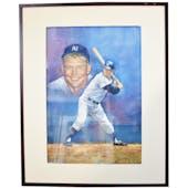 Mickey Mantle New York Yankess Upper Deck 24 x 30 Framed Original Art