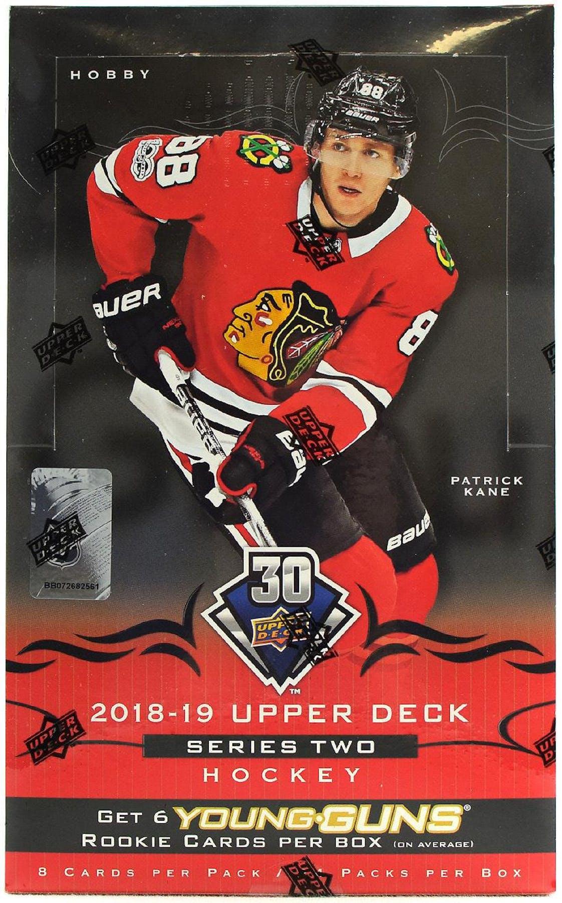 2018 19 Upper Deck Series 2 Hockey Hobby Box  0a93ed630