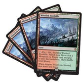 Magic the Gathering Khans of Tarkir PLAYSET Wooded Foothills X4 - NEAR MINT (NM)